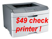 $49 check printer when purchased with CheckToner MICR Cartridge